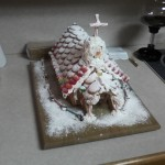 I graham cracker house built by the Davidson boys - not sure why its in this post